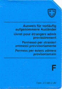 Ausländerausweis für vorläufig aufgenommene abgewiesene Asylbewerber