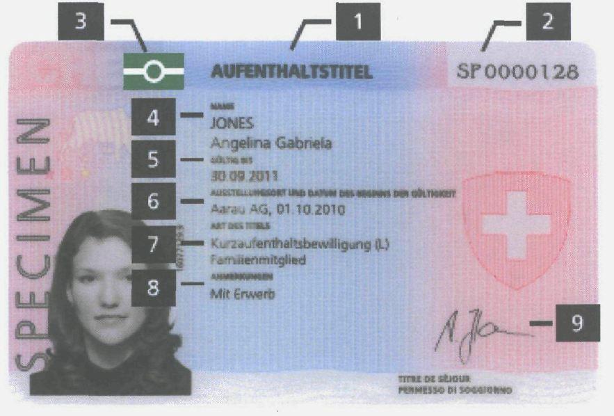 Biometrischer Ausländerausweis für Drittstaatenangehörige ab 2011